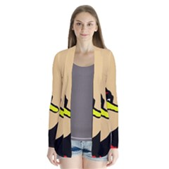 Angry Bird Drape Collar Cardigan