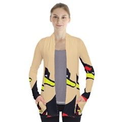 Angry Bird Women s Open Front Pockets Cardigan(P194)