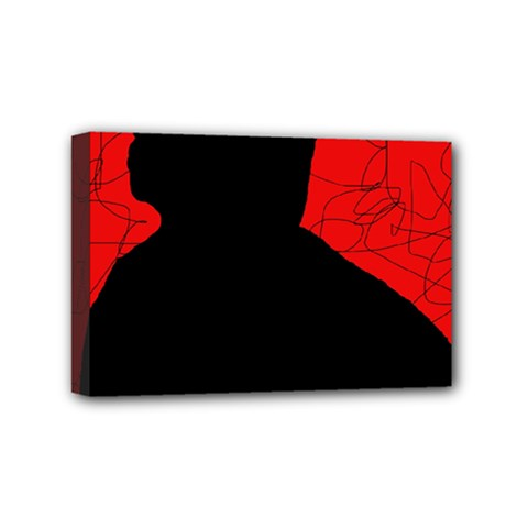 Red and black abstract design Mini Canvas 6  x 4