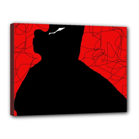 Red and black abstract design Canvas 16  x 12