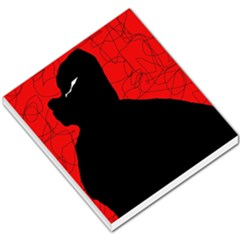 Red and black abstract design Small Memo Pads