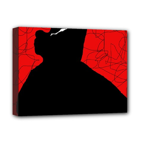 Red and black abstract design Deluxe Canvas 16  x 12