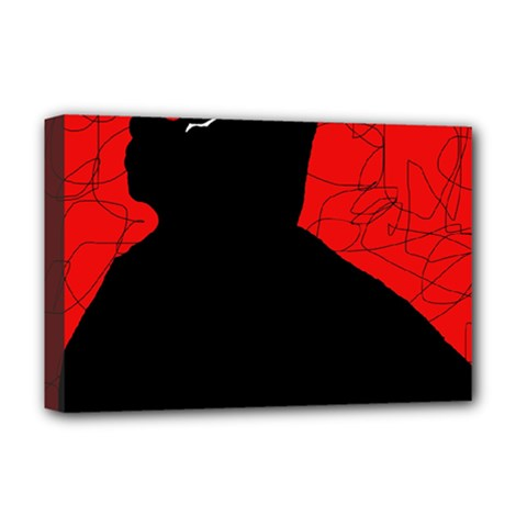 Red and black abstract design Deluxe Canvas 18  x 12