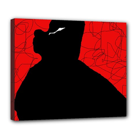 Red and black abstract design Deluxe Canvas 24  x 20