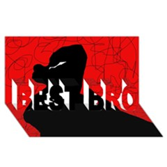 Red and black abstract design BEST BRO 3D Greeting Card (8x4)