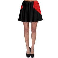Red and black abstract design Skater Skirt