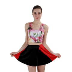 Red and black abstract design Mini Skirt