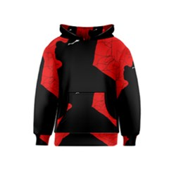 Red and black abstract design Kids  Pullover Hoodie