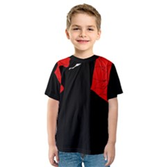 Red and black abstract design Kid s Sport Mesh Tee