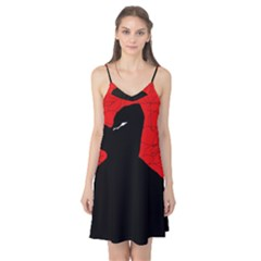 Red and black abstract design Camis Nightgown