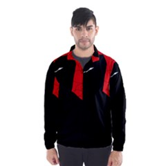Red and black abstract design Wind Breaker (Men)