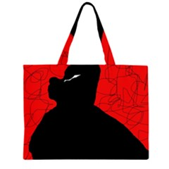 Red and black abstract design Large Tote Bag
