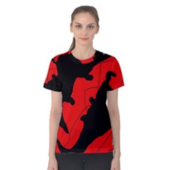Black and red lizard  Women s Cotton Tee