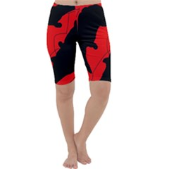 Black and red lizard  Cropped Leggings
