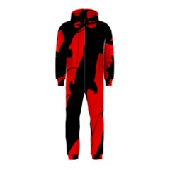 Black and red lizard  Hooded Jumpsuit (Kids)