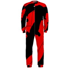 Black and red lizard  OnePiece Jumpsuit (Men)