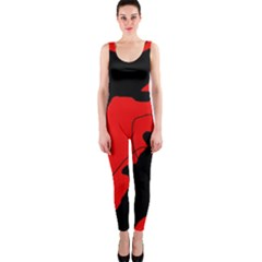Black and red lizard  OnePiece Catsuit
