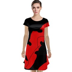 Black and red lizard  Cap Sleeve Nightdress