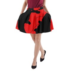 Black and red lizard  A-Line Pocket Skirt