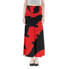 Black and red lizard  Maxi Skirts