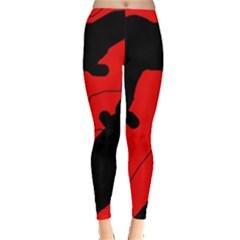 Black And Red Lizard  Leggings