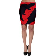 Black and red lizard  Bodycon Skirt