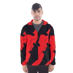 Black and red lizard  Hooded Wind Breaker (Men)