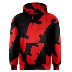 Black and red lizard  Men s Pullover Hoodie