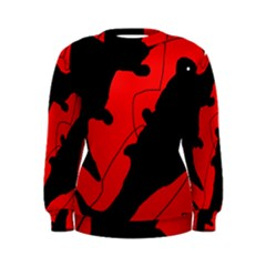 Black and red lizard  Women s Sweatshirt