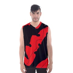 Black And Red Lizard  Men s Basketball Tank Top