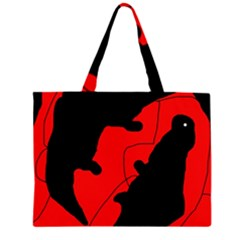 Black and red lizard  Large Tote Bag