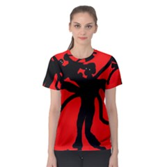 Abstract man Women s Sport Mesh Tee