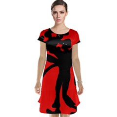 Abstract man Cap Sleeve Nightdress