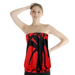 Abstract man Strapless Top