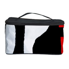 Red, black and white Cosmetic Storage Case