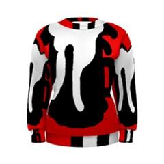 Red, black and white Women s Sweatshirt