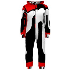 Red, black and white Hooded Jumpsuit (Ladies)