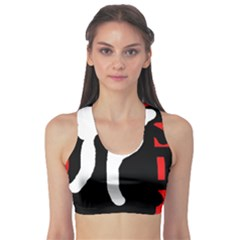 Red, black and white Sports Bra