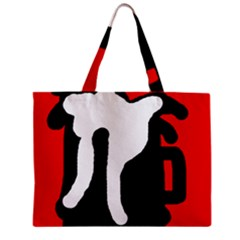 Red, black and white Zipper Mini Tote Bag