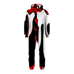 Red, black and white Hooded Jumpsuit (Kids)