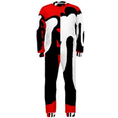 Red, black and white OnePiece Jumpsuit (Men)