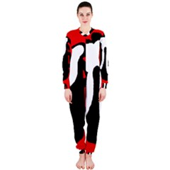 Red, black and white OnePiece Jumpsuit (Ladies)