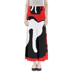 Red, Black And White Maxi Skirts