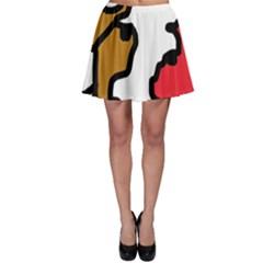 Artistic cow Skater Skirt