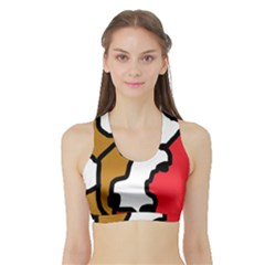 Artistic cow Sports Bra with Border
