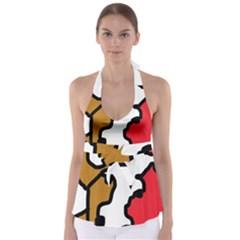 Artistic cow Babydoll Tankini Top