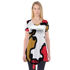 Artistic Cow Short Sleeve Tunic