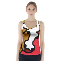 Artistic Cow Racer Back Sports Top