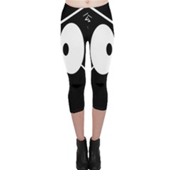 Black owl Capri Leggings