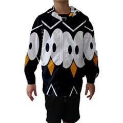 Black Owl Hooded Wind Breaker (kids)